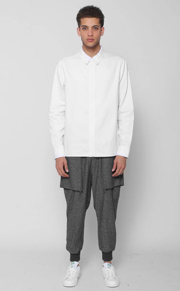 TOPS - UNKNOWN ALACRITY Button Down White