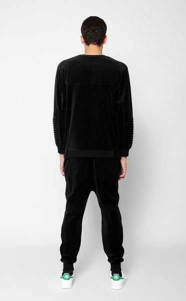 TOPS - UNKNOWN HARBINGER Black Crewneck