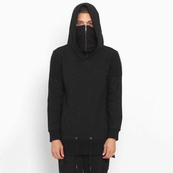 Unknown Vengeance Ninja Mask Black Hoodie