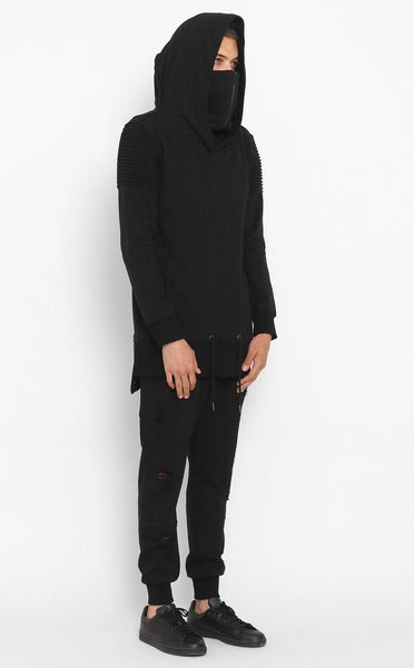 TOPS - UNKNOWN VENGEANCE HOODIE Black