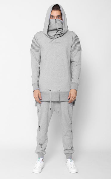 TOPS - UNKNOWN VENGEANCE HOODIE Gray