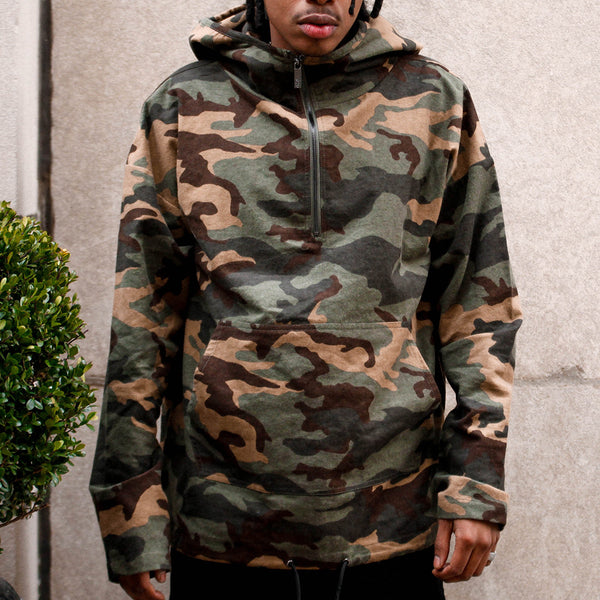 Vietnam Brushed Camo Embroidery Pull Over Hoodie