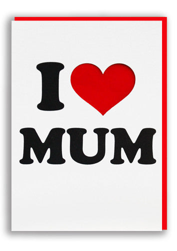 I love mum card