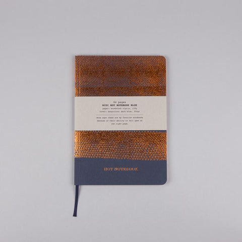 Hot Copper Notebook Blue