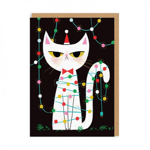 GRUMPY FAIRY LIGHTS CAT