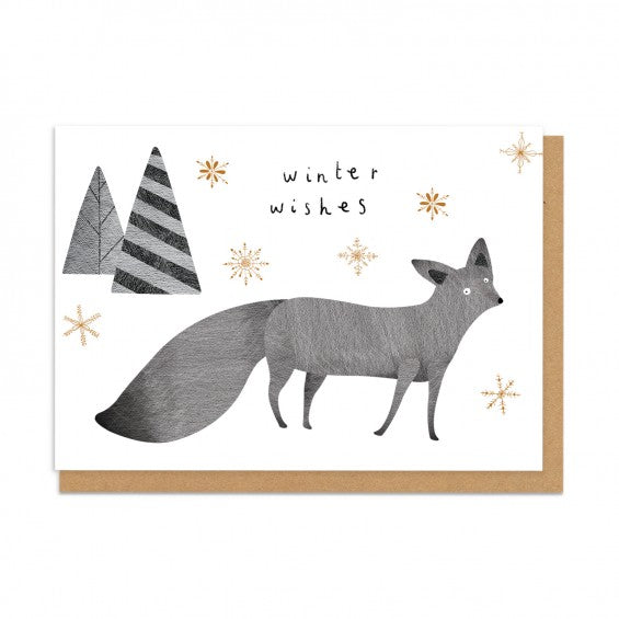 Winter wishes fox