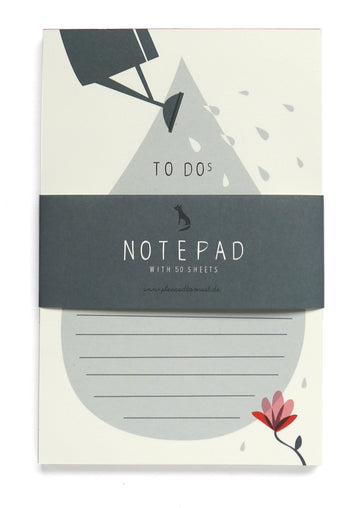 Watering can notepad