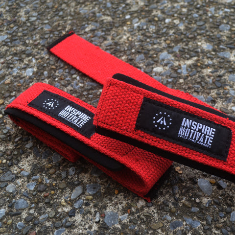 RED LIFTING STRAPS