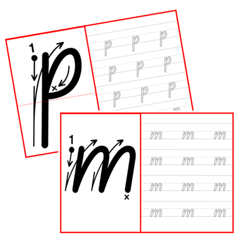 Lowercase Tracing Cards
