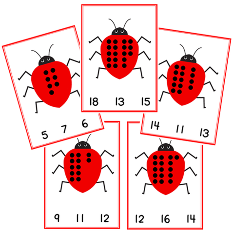 Count and Clip Ladybird Cards