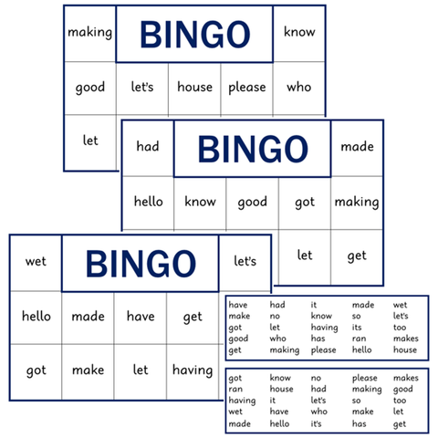 BINGO Boards - Set 3 - Blue