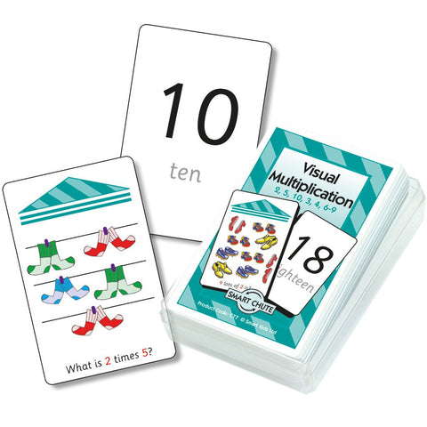 Visual Multiplication Chute Cards