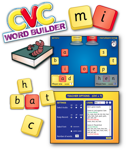 CVC Word Builder Software Download