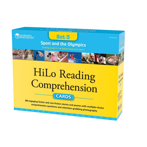 Sport & Olympics Hi-Lo Comprehension Cards