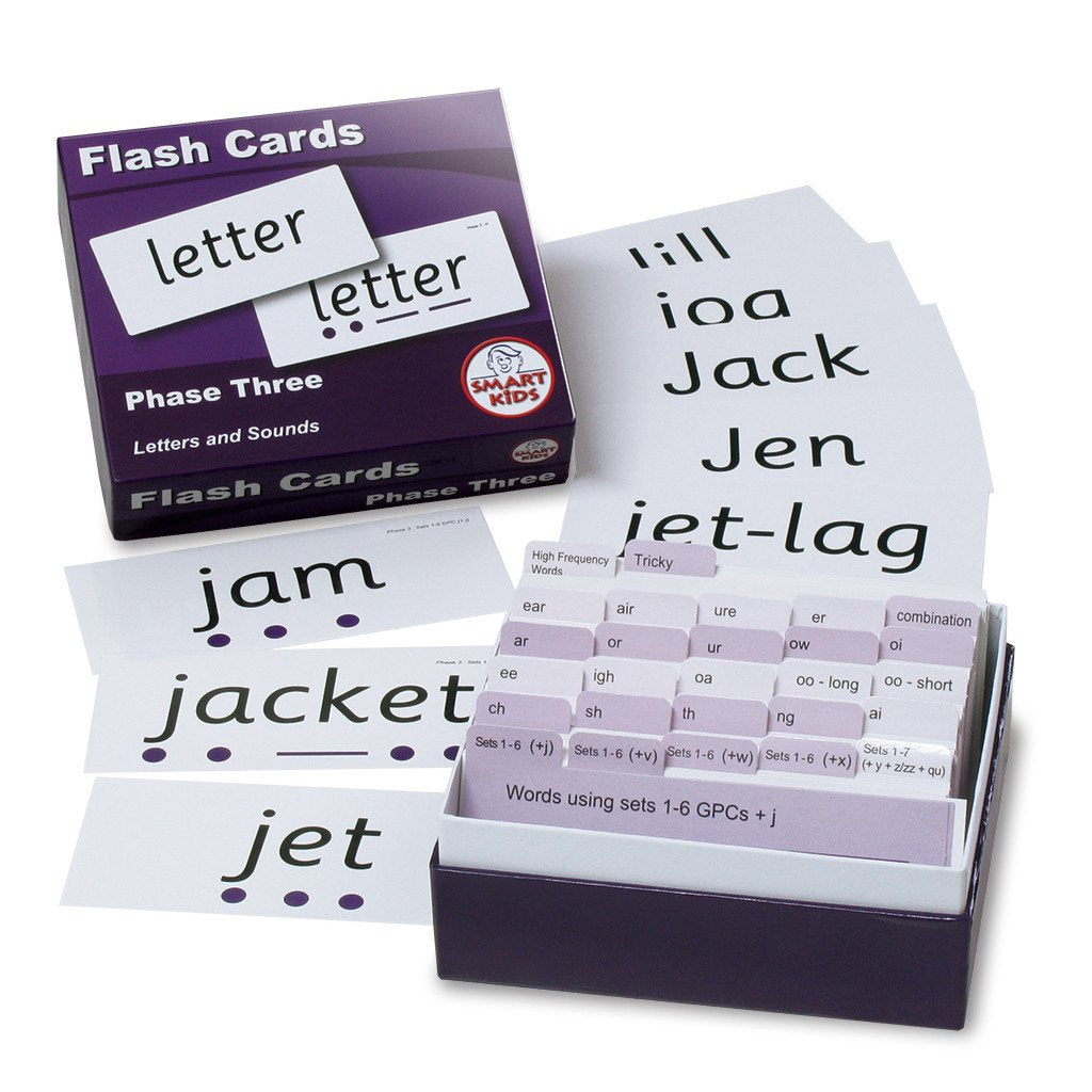 Letters and Sounds Phase Three Flash Cards