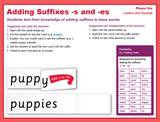 Suffix Strips -s & -es