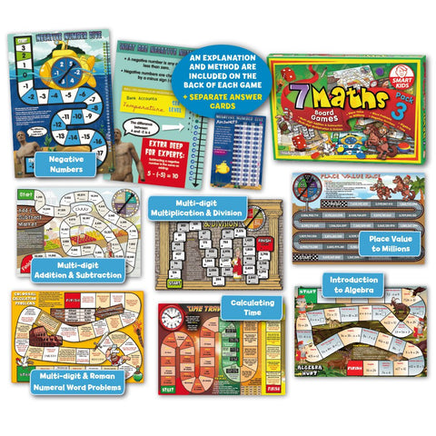 7 Maths Board Games - Pack 3