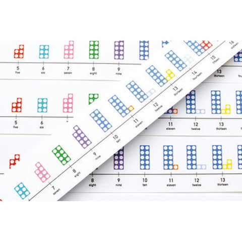 Numicon Table-top Number Lines Set of 5