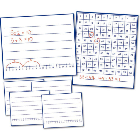 Write and Wipe Boards to 100 (6pk)