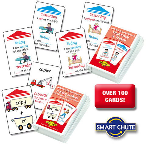 Letters and Sounds Phase 6 Chute Cards Smart Buy