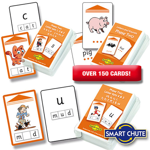 Letters and Sounds Phase 2 Chute Cards Smart Buy