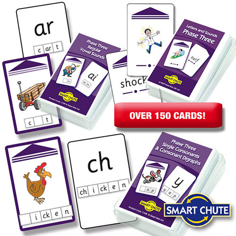 Letters and Sounds Phase 3 Chute Cards Smart Buy