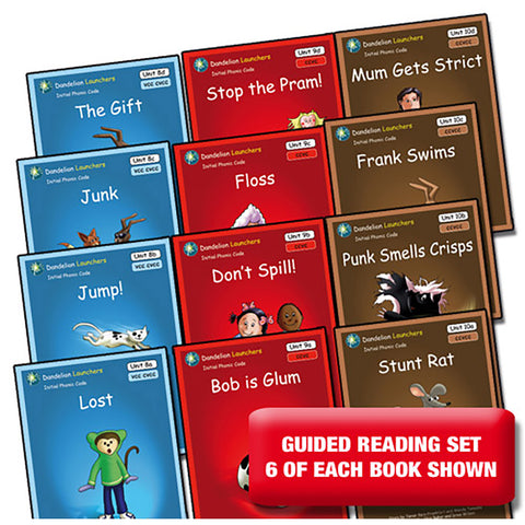 Dandelion Launchers, Units 8-10 - Guided Reading (72 Books)