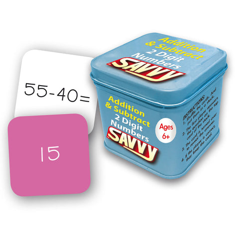 Savvy - Addition and Subtraction with 2 digit numbers