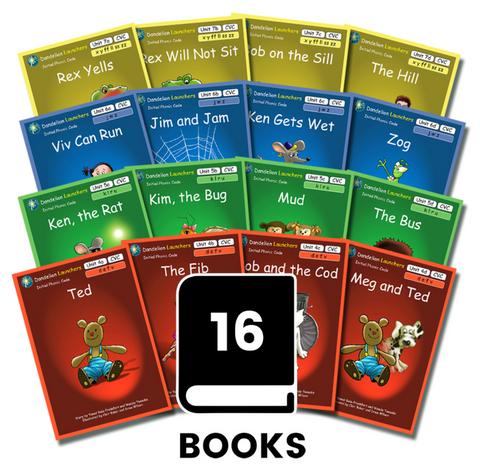 Dandelion Launchers, Units 4-7 (16 Books)
