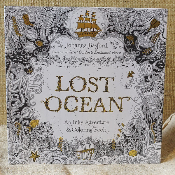 Lost Ocean: An Inky Adventure & Coloring Book