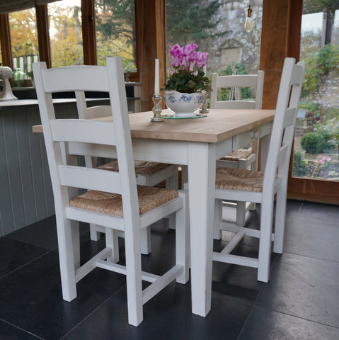 Hand Painted Table and Ladder Back Chairs