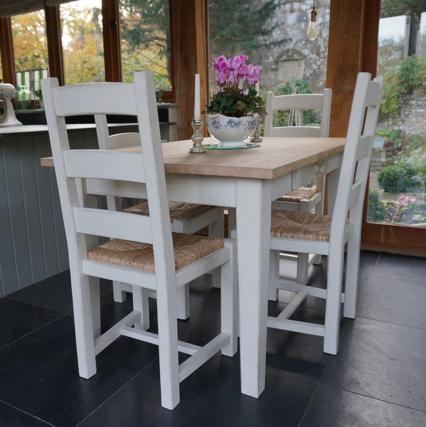 Hand Painted Shaker Table and Ladder Back Chairs
