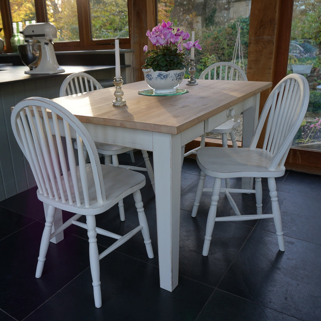 Hand Painted Table and Chairs - Hoop Back Style