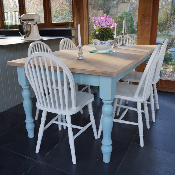Chilmark Painted Table and Hoop Back Chairs