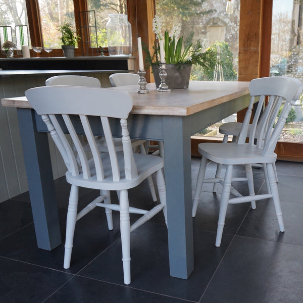 painted Beckford table and farmhouse chairs