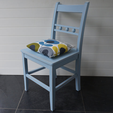 painted ball back chair