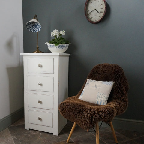 painted bedside table