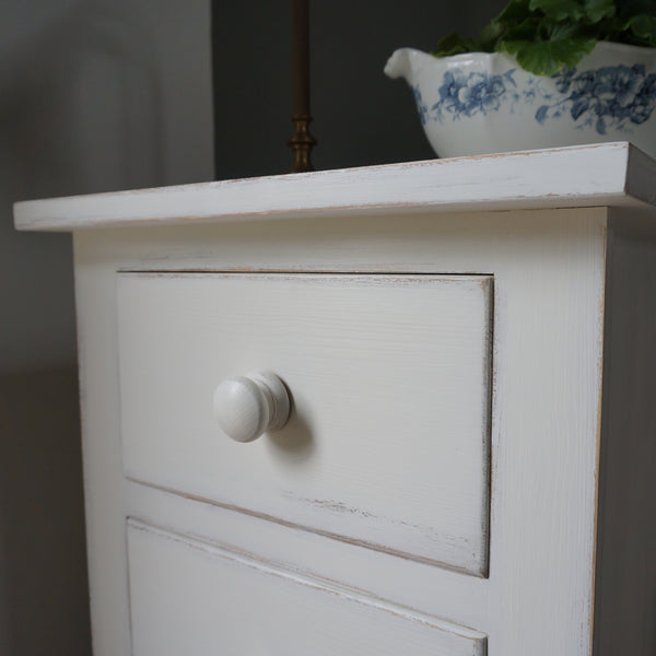 painted narrow chest of drawers