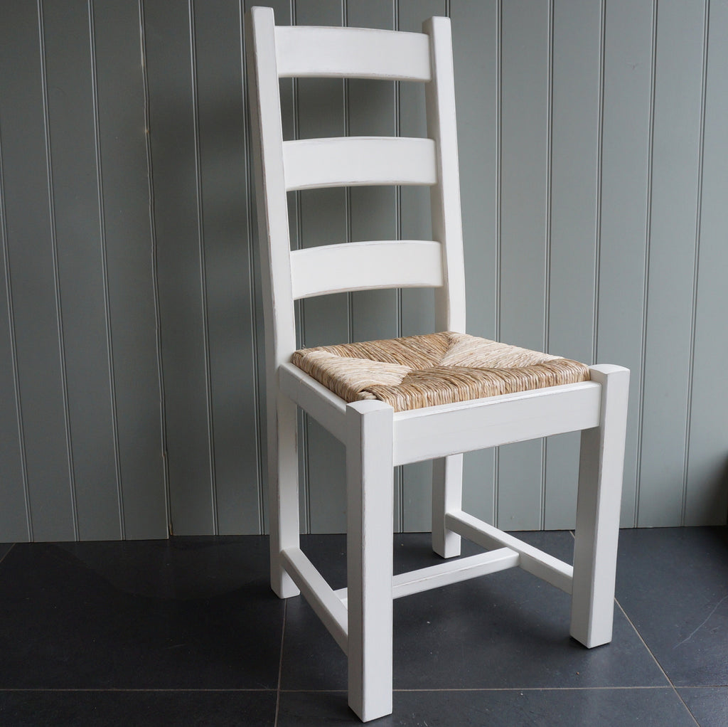 painted ladder back dining chair