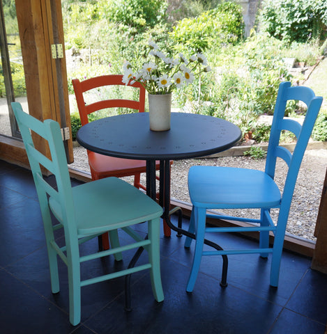 hand painted chairs - Italian cafe style