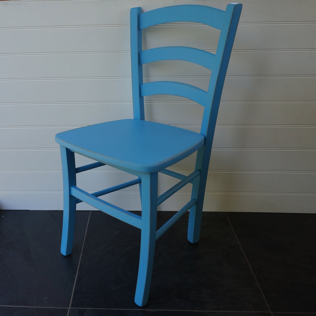 painted Italian cafe chair