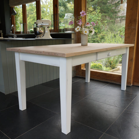 Painted dining table - made to measure