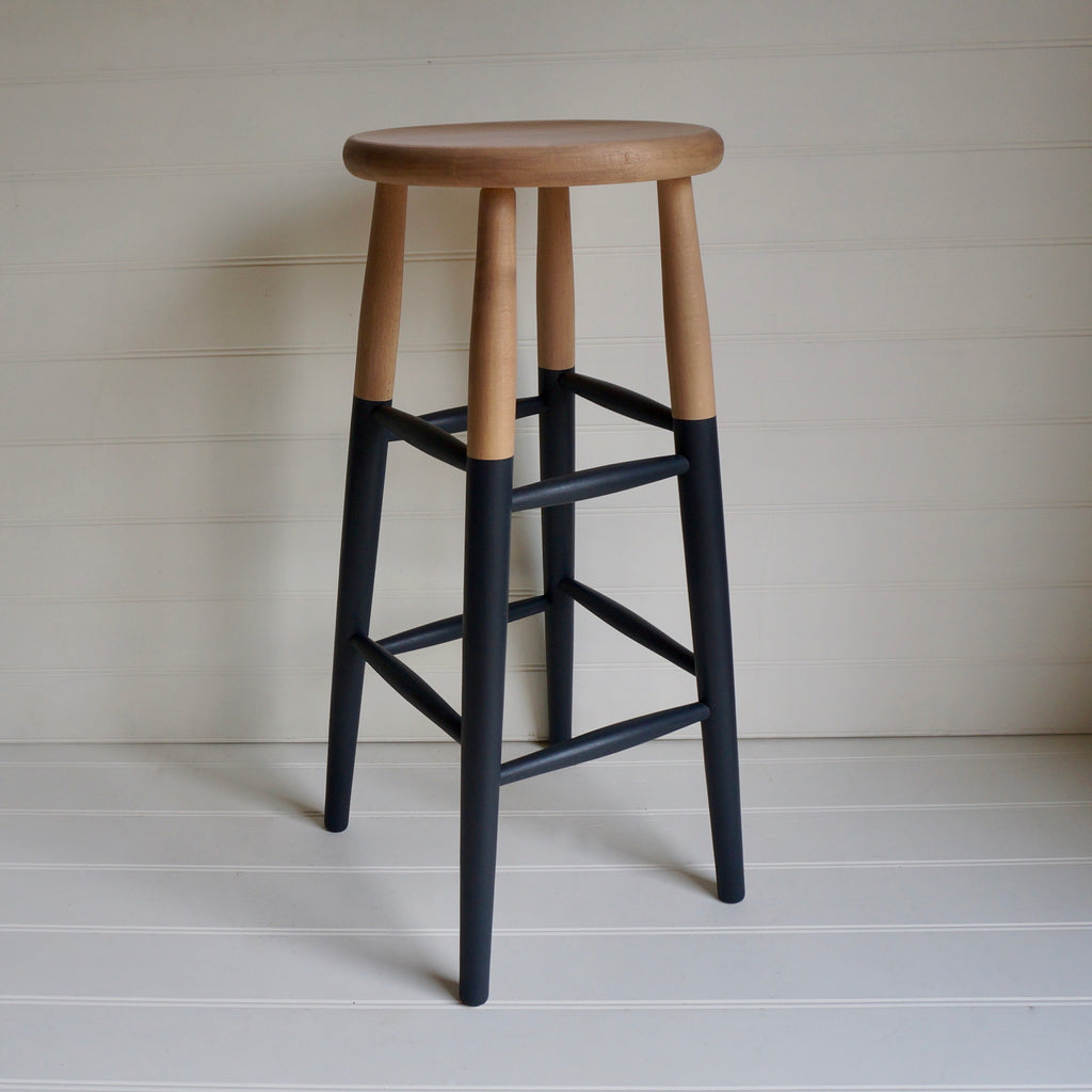 Hand Painted Colour Dipped Bar Stools