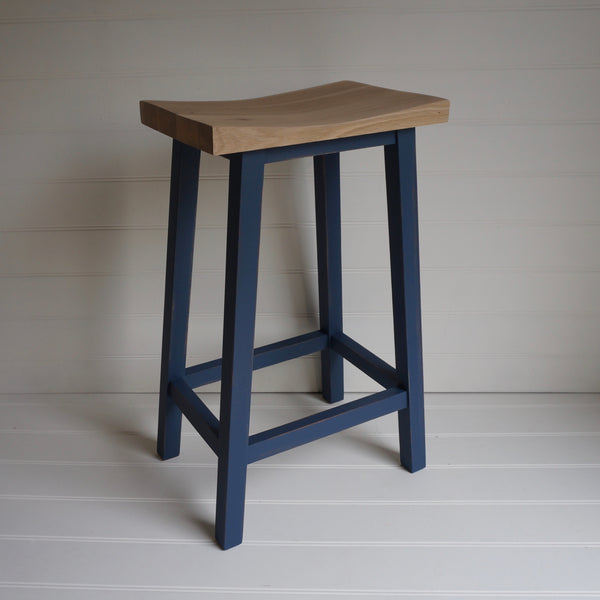 painted scandi bar stool