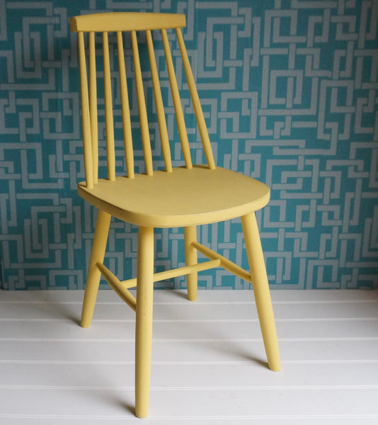 painted spindle back dining chair