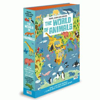 The World of Animals Book & 3D Puzzle