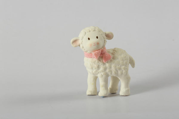 Lila Lamb Rubber Toy