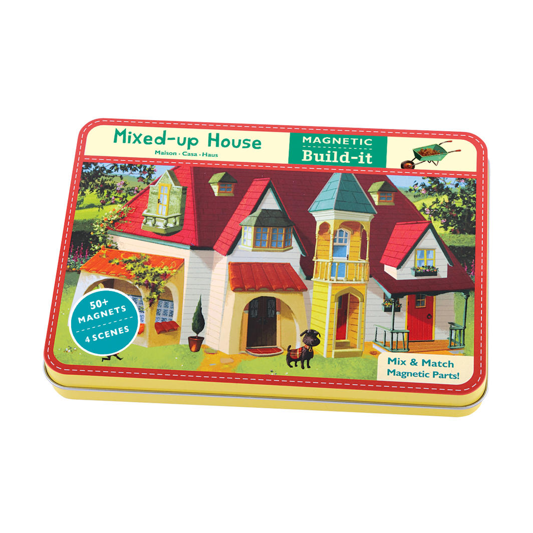 Mudpuppy Mixed-up House Magnetic Design Set