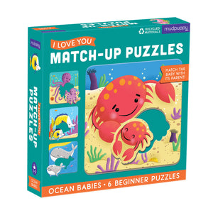 Mudpuppy Ocean Babies Matching Puzzles
