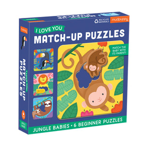 Mudpuppy Jungle Babies Matching Puzzles